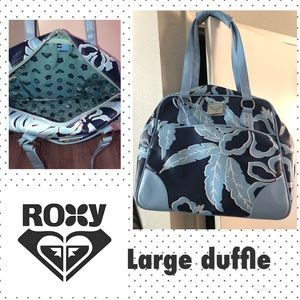 ROXY LUGGAGE BLUE PRINT WEEKEND BAG